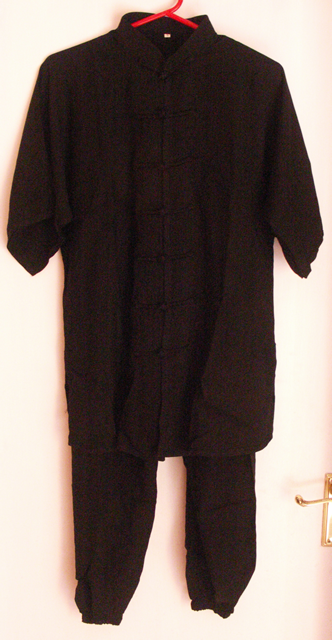 Black Cotton Suit - Short Sleeves