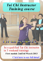 Deyin Tai Chi instructor Course 2013
