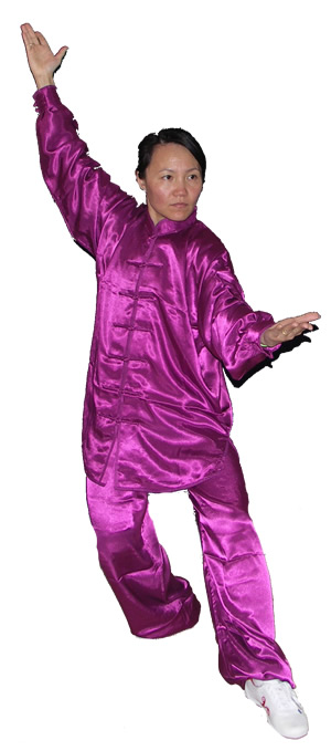 Purple Simulated Silk Suit