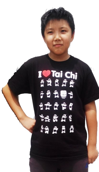 """I Love Tai Chi"" Panda T Shirt - Black"
