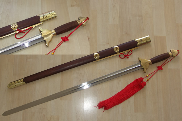 Stainless Steel Straight Sword - traditional Design