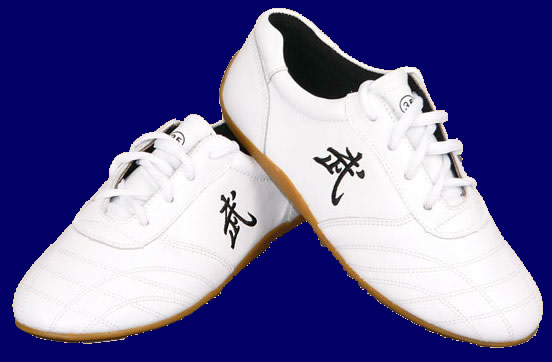 "White ""Wu"" Leather Shoes"